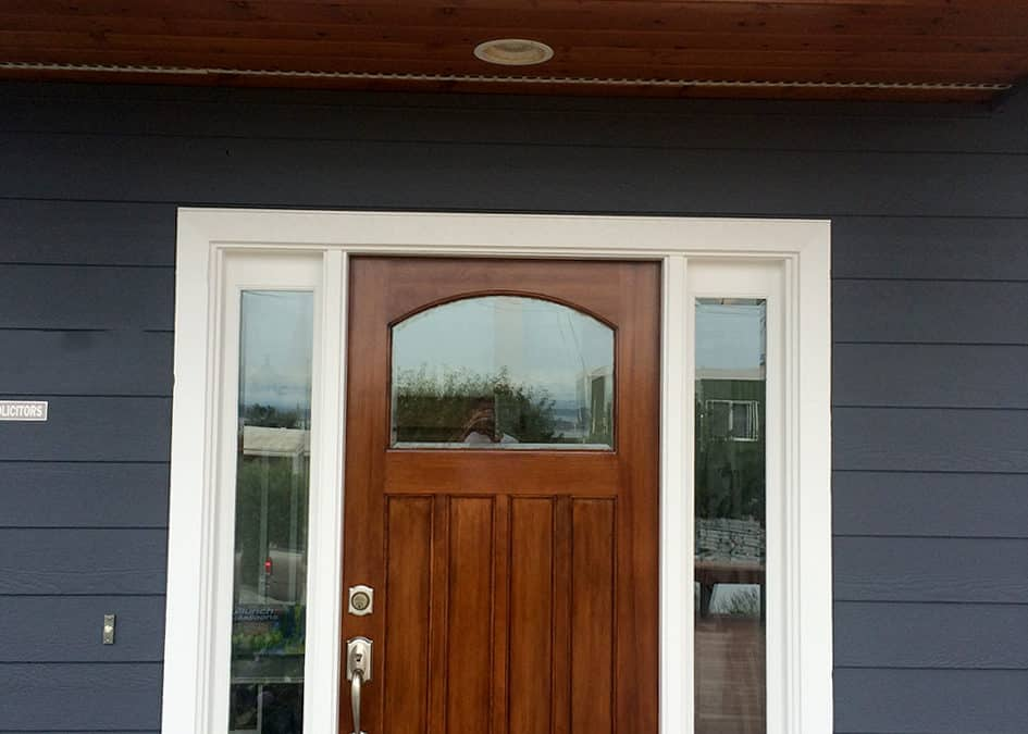 Front Door, Siding, and Soffit Treatment